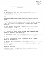 Computing Facility Monthly Activities Report November 1976