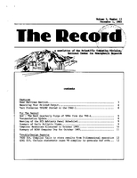 Record Newsletter of the Scientific Computing Division Volume 3 Issue 12