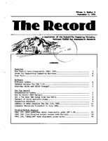 Record Newsletter of the Scientific Computing Division Volume 3 Issue 9