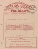 Record Newsletter of the Scientific Computing Division Volume 8 Issue 4