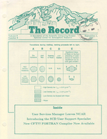 Record Newsletter of the Scientific Computing Division Volume 8 Issue 9