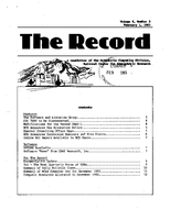 Record Newsletter of the Scientific Computing Division Volume 4 Issue 2