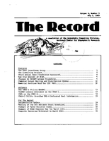 Record Newsletter of the Scientific Computing Division Volume 4 Issue 5