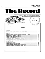 Record Newsletter of the Scientific Computing Division Volume 4 Issue 10