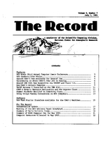 Record Newsletter of the Scientific Computing Division Volume 4 Issue 7