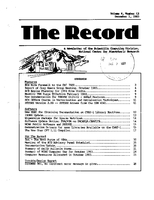 Record Newsletter of the Scientific Computing Division Volume 4 Issue 12