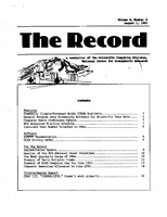 Record Newsletter of the Scientific Computing Division Volume 4 Issue 8