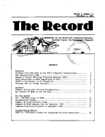 Record Newsletter of the Scientific Computing Division Volume 4 Issue 11