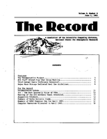Record Newsletter of the Scientific Computing Division Volume 4 Issue 6