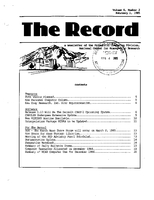 Record Newsletter of the Scientific Computing Division Volume 6 Issue 2