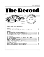 Record Newsletter of the Scientific Computing Division Volume 6 Issue 5