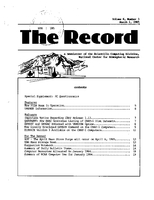 Record Newsletter of the Scientific Computing Division Volume 6 Issue 3