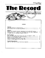 Record Newsletter of the Scientific Computing Division Volume 6 Issue 7