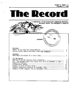 Record Newsletter of the Scientific Computing Division Volume 6 Issue 11