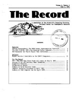Record Newsletter of the Scientific Computing Division Volume 6 Issue 6