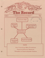 Record Newsletter of the Scientific Computing Division Volume 7 Issue 7