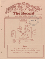 Record Newsletter of the Scientific Computing Division Volume 7 Issue 8
