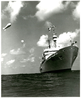 Photograph, Ship with tethered balloons