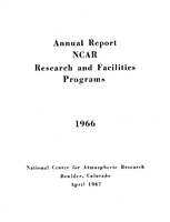 1966 Annual Report NCAR Research and Facilities Programs