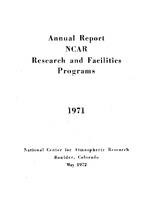 1971 Annual Report NCAR Research and Facilities Programs