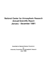 1981 Annual Scientific Report (January - December)