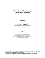 Testimony, Observations of climate change