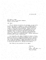 Correspondence, Donald S. Jordan to Nancy G. Wright