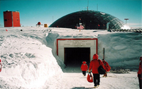 Photograph, Entrance to the South Pole Station