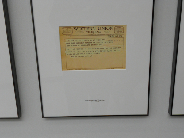 graph Martin Luther King s letter of acceptance to the