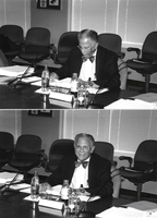 Photograph, Warren Washington chairing a National Science Board meeting
