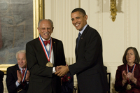 Photograph, Warren Washington and Barack Obama