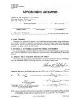 Appointment Affidavit, Warren Washington