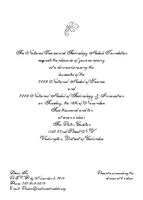 Invitation to 2009 National Medal of Science Dinner