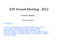 GTP annual meeting - 2012