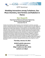 Modeling interactions among turbulence, gas-phase chemistry, soot particles and radiation in flames