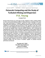 Petascale computing and the study of turbulent mixing and dispersion