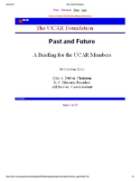 Presentation, UCAR Foundation, October 2000
