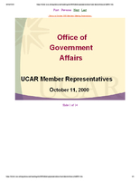 Presentation, Office of Government Affairs, October 2000