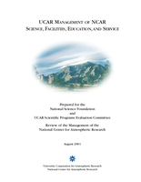 UCAR Management of NCAR Science, Facilities, Education, and Service, October 2003