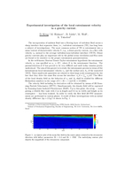 Experimental investigation of the local entrainment velocity in a gravity current [abstract]