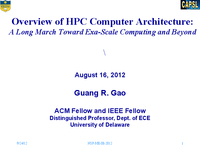 Overview of HPC computer architecture: A long march toward exa-scale computing and beyond