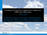 Finding the favorite regions for collisions: DNS and LAB data