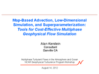 Map-based advection, low-dimensional simulation, and superparameterization
