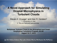 A novel approach for simulating droplet microphysics in turbulent clouds