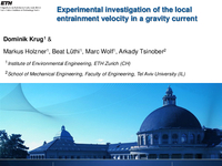 Experimental investigation of the local entrainment velocity in a gravity current