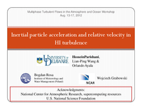 Inertial particle acceleration and relative velocity in HI turbulence