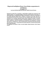 Dispersed multiphase flows: From Stokes suspensions to turbulence [abstract]