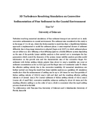 3D turbulence resolving simulation on convective sedimentation of fine sediment in the coastal environment [abstract]