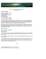 Nominating Committee Report, October 2005