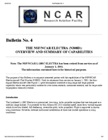 RAF Bulletin 4: The NSF/NCAR Electra (N308D): Overview and summary of capabilities (updated 2002)